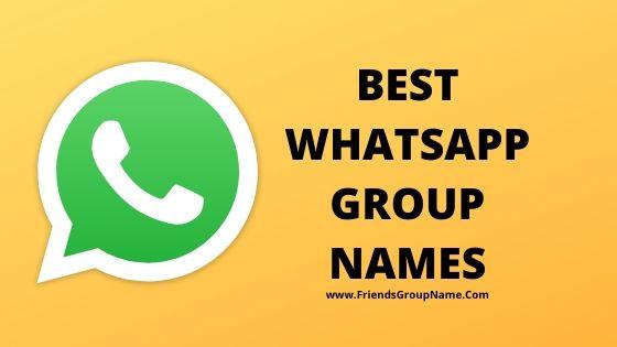 Best Whatsapp Group Names, whatsapp, group names