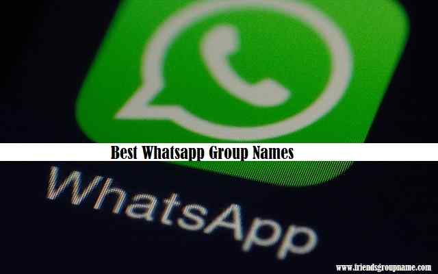 Best Whatsapp Group Names【2021】For Friends & Girl 1