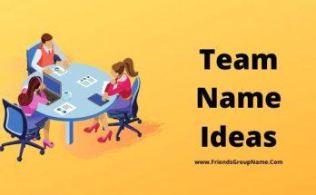 Team Name Ideas, Team Names