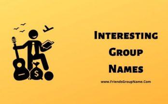 Interesting Group Names, Group Names