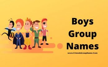 Boys Group Names, Group Names