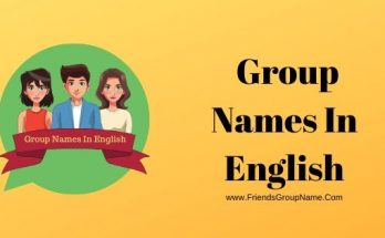 Group Names In English, Group Names
