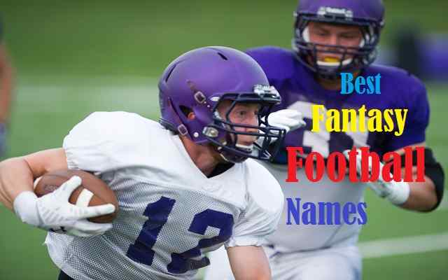 Best Fantasy Football Names