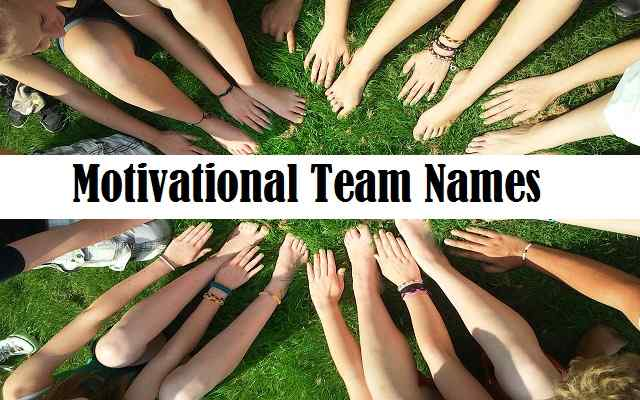 Motivational Team Names