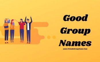 Good Group Names, group names