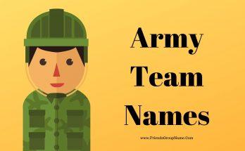 Army Team Names, Military Team Names