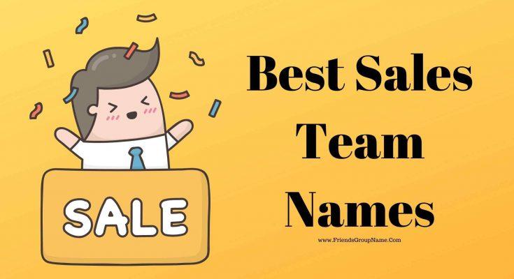 Best Sales Team Names, sales
