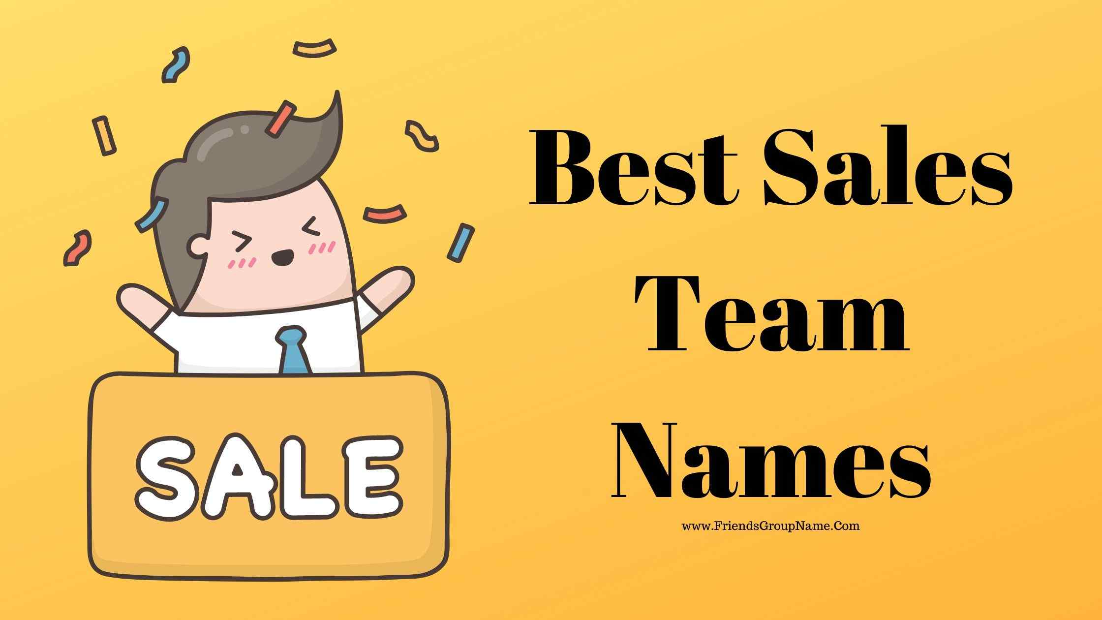 Best Sales Team Names, sales
