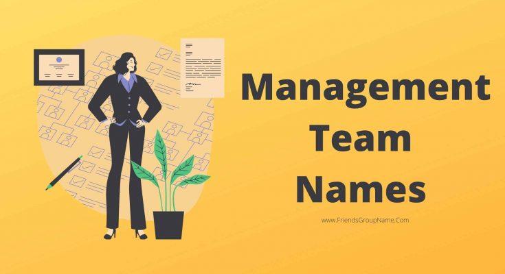 Management Team Names