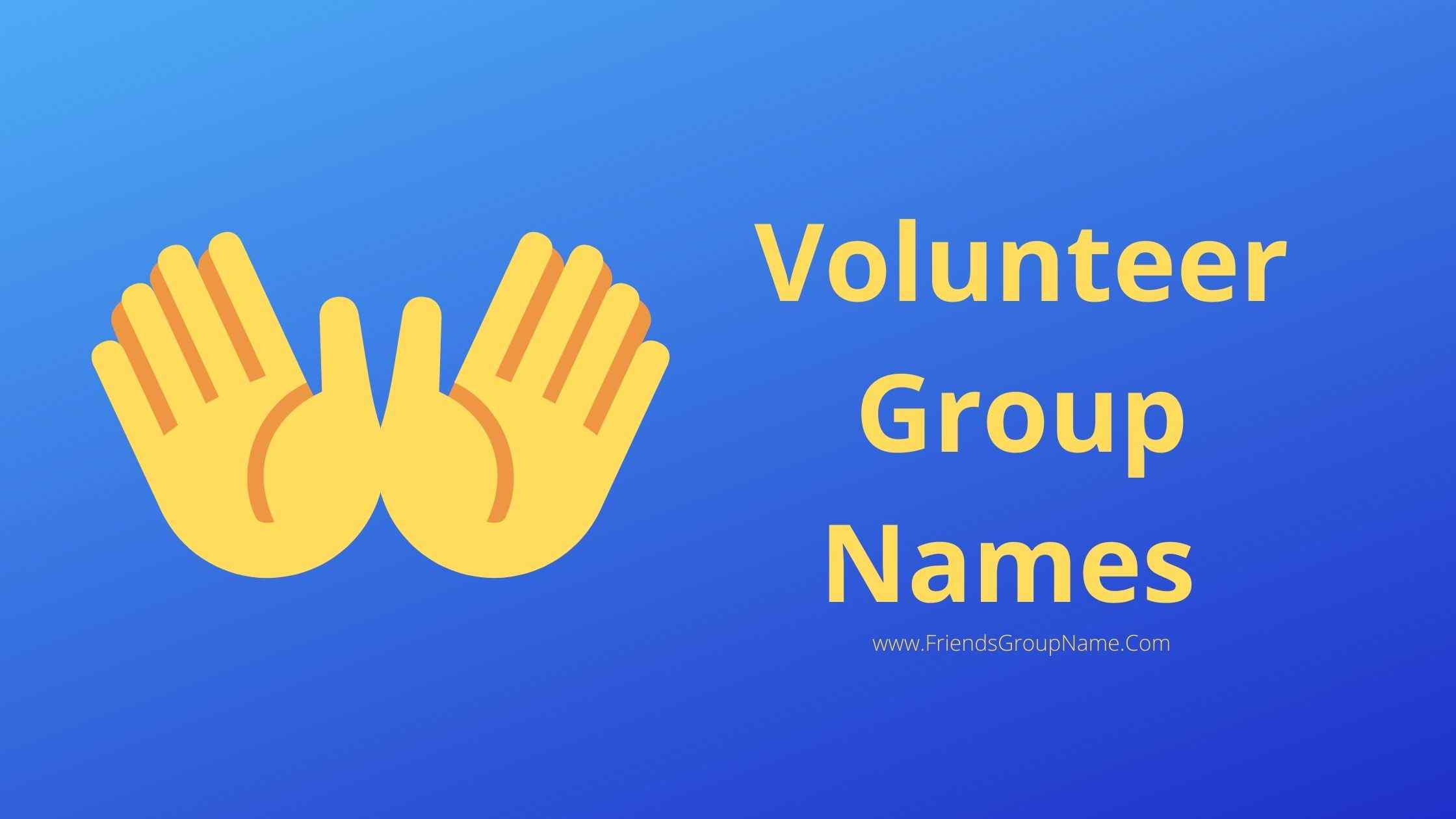 Volunteer Group Names