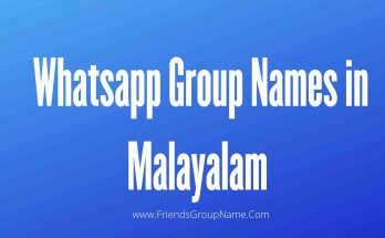 Whatsapp Group Names In Malayalam