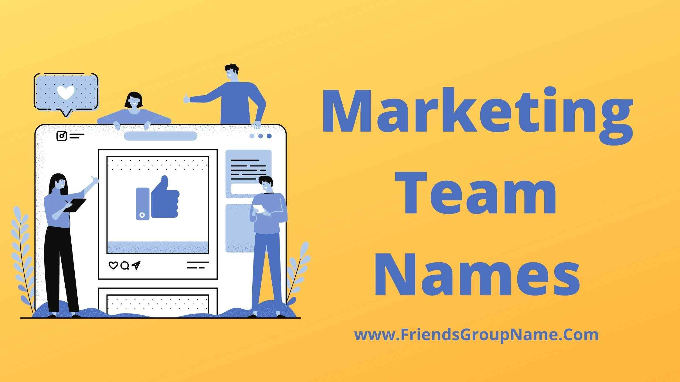Marketing Team Names