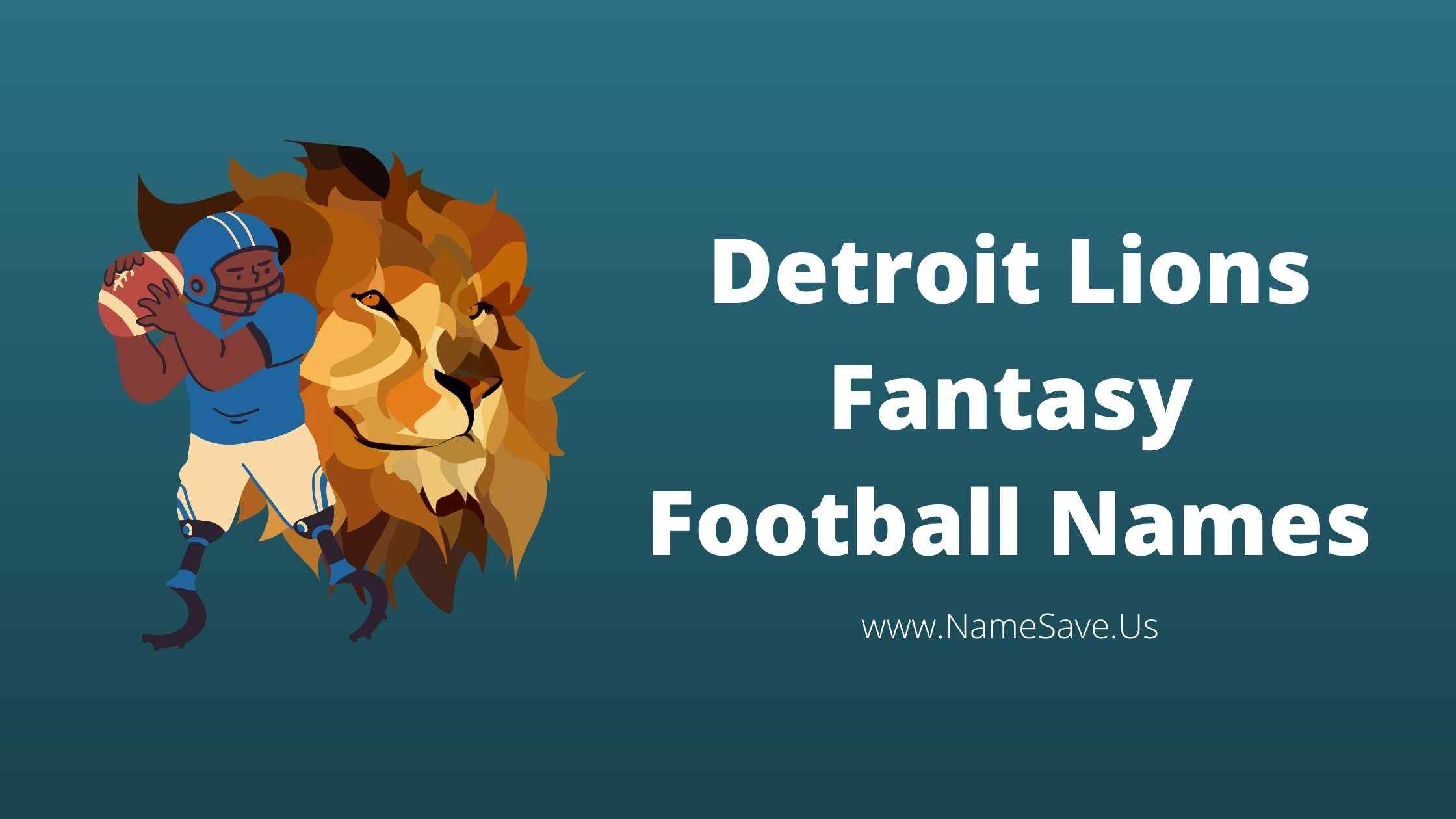 Detroit Lions Fantasy Football Names
